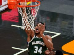 Milwaukee Bucks forward Giannis Antetokounmpo was among the points on his return to action (John Raoux/AP)