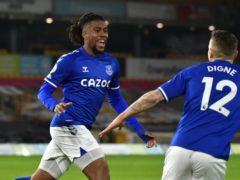 Everton's Alex Iwobi opened the scoring at Molineux (Rui Vieira/PA)