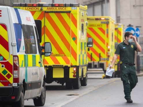 A doctor says patients are being treated in ambulances because hospitals are full (Dominic Lipinski/PA)