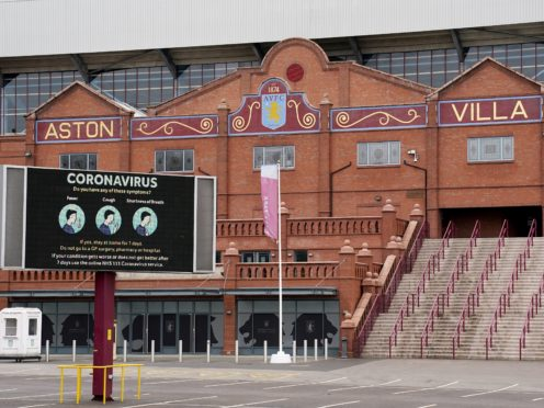 Aston Villa's Premier League match at home to Everton on Sunday has been postponed because of ongoing coronavirus issues (Morgan Harlow/PA)