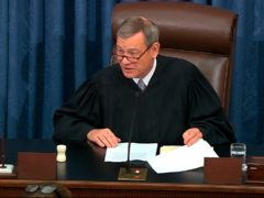 Chief Justice of the United States John Roberts (Senate Television via AP)