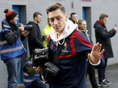 Mesut Ozil said goodbye to Arsenal's fans (Martin Rickett/PA)