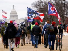 Supporters of former president Donald Trump marching towards the Capitol on January 6 (AP/Carolyn Kaster, File)
