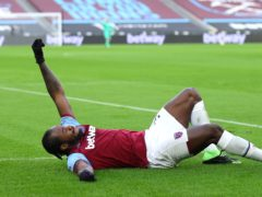 Michail Antonio celebrated in style (Julian Finney/PA)