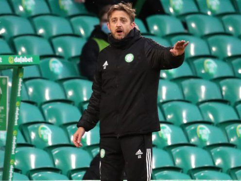 Gavin Strachan sees Celtic drop more points (Andrew Milligan/PA)