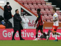 Jefferson Lerma was sent off as Bournemouth lost to Luton (Kieran Cleeves/PA)