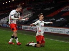 Kiernan Dewsbury-Hall, right, scored Luton's winner at Bournemouth (Kieran Cleeves/PA)