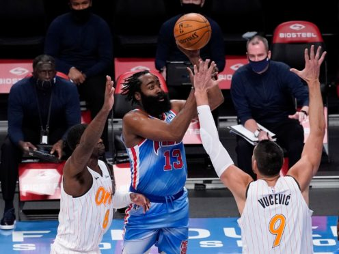 Brooklyn Nets guard James Harden (Mary Altaffer/AP)