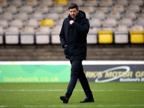 Steven Gerrard refused to blame the state of pitch for Rangers' poor display (Andrew Milligan/PA)