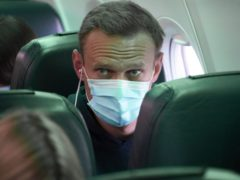 The Government said it is 'deeply concerned' by the arrest of Russian opposition leader Alexei Navalny on his return to Moscow (Mstyslav Chernov/AP)