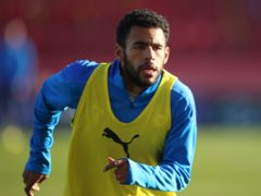 Peterborough defender Nathan Thompson returns from suspension (Nigel French/PA)