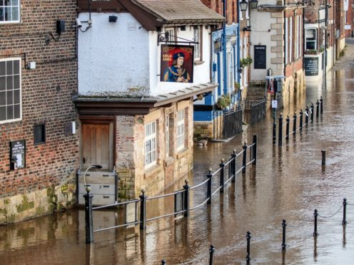 Flooding in York, Yorkshire, after the River Ouse burst its banks (Danny Lawson/PA)