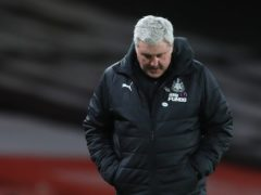 Newcastle head coach Steve Bruce is under increasing pressure after a nine-game winless run (Adam Davy/PA)