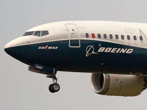 A Boeing 737 Max (AP)