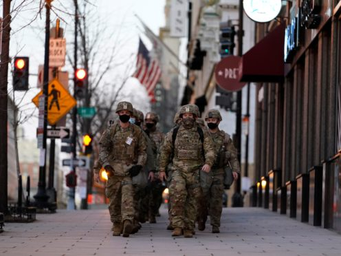 National Guards deploy ahead of President-elect Joe Biden's inauguration ceremony (Matt Slocum/AP)