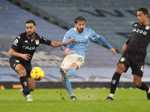 Bernardo Silva's goal for Manchester City against Aston Villa would not now be allowed to stand after referees were issued with updated guidance by PGMOL (Martin Rickett/PA)