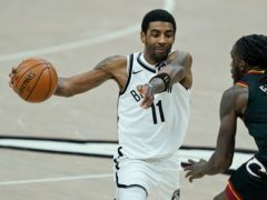 Kyrie Irving returned for the Brooklyn Nets in the loss (Tony Dejak/AP)