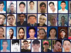 Issued by Essex Police of (left to right top row) Dinh Dinh Binh, Nguyen Minh Quang, Nguyen Huy Phong, Le Van Ha, Nguyen Van Hiep, Bui Phan Thang, Nguyen Van Hung, Nguyen Huy Hung, Nguyen Tien Dung, Pham Thi Tra My, (left to right second row) Tran Khanh Tho, Nguyen Van Nhan, Vo Ngoc Nam, Vo Van Linh, Nguyen Ba Vu Hung, Vo Nhan Du, Tran Hai Loc, Tran Manh Hung, Nguyen Thi Van, Bui Thi Nhung, (third row left to right) Hoang Van Tiep, Tran Thi Ngoc, Phan Thi Thanh,Tran Thi Tho, Duong Minh Tuan, Pham Thi Ngoc Oanh, Tran Thi Mai Nhung, Le Trong Thanh, Nguyen Ngoc Ha, Hoang Van Hoi, (bottom row left to right) Tran Ngoc Hieu, Cao Tien Dung, Dinh Dinh Thai Quyen, Dang Huu Tuyen, Nguyen Dinh Luong , Cao Huy Thanh, Nguyen Trong Thai, Nguyen Tho Tuan and Nguyen Dinh Tu, the 39 Vietnamese migrants, aged between 15 and 44, that were found dead in the back of a trailer in Essex on October 23 2019 (Essex Police)