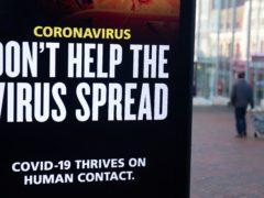 Coronavirus sign (Andrew Matthews/PA)
