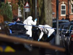 Police at the scene in Linwood Road, Handsworth, where Keon Lincoln died (Matthew Cooper/PA)