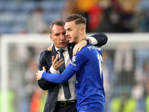 Brendan Rodgers was impressed by James Maddison once again (Nigel French/PA)
