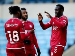 Bristol City's Famara Diedhiou (right) celebrates his opener (Aaron Chown/PA)