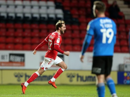 Charlton's Andrew Shinnie had a late equaliser to celebrate against Swindon (Steven Paston/PA)