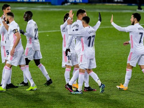 Real Madrid returned to winning ways at Alaves (Alvaro Barrientos/AP)