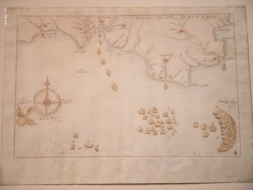 One of the armada maps (Andrew Matthews/PA)