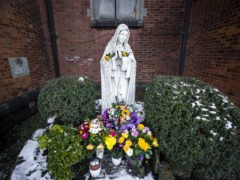 Statue of Our Lay Mary outside the Good Shepherd Catholic Church on the Ormeau Road in Belfast (Liam McBurney/PA)