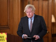 Prime Minister Boris Johnson during a media briefing in Downing Street (Justin Tallis/PA)