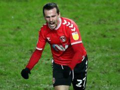 Liam Millar celebrates his goal (Tim Goode/PA)