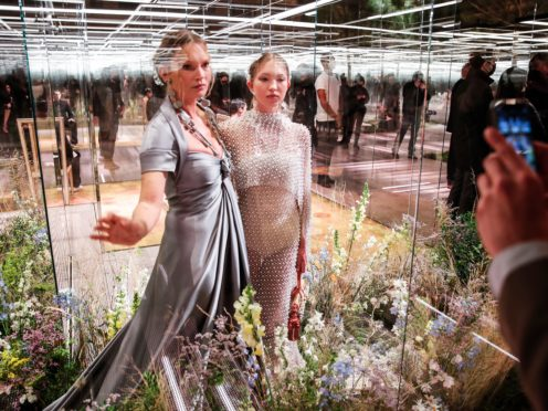 Kate Moss, left, and her daughter Lila (Francois Mori/AP)