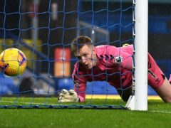 Everton goalkeeper Jordan Pickford could be rotated after his error against Leicester (Paul Ellis/PA)