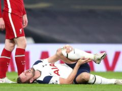 Tottenham's Harry Kane appears to be in pain during the Premier League match at the Tottenham Hotspur Stadium, London (Nick Potts/PA)