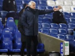 Jose Mourinho rued Tottenham's fragile confidence following the defeat at Brighton (Andrew Boyers/PA)