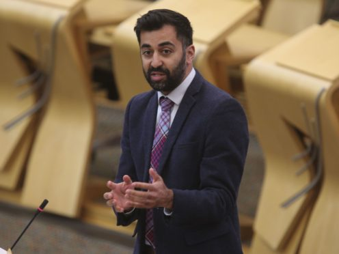 Justice Secretary Humza Yousaf announced the Victim Surcharge Fund was now open for applications. (Fraser Bremner/Scottish Daily Mail/PA)