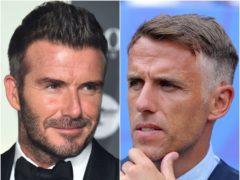David Beckham and Phil Neville (Matt Crossick/Richard Sellers/PA)