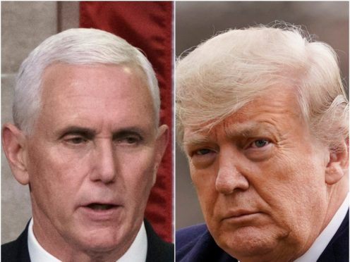 Mike Pence and Donald Trump (J. Scott Applewhite and Evan Vucci/AP)