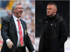 Sir Alex Ferguson and Wayne Rooney (Nick Potts/Mike Egerton/PA).