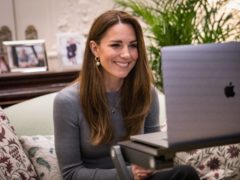 The Duchess of Cambridge chatted to holocaust survivors via video link (Kensington Palace)