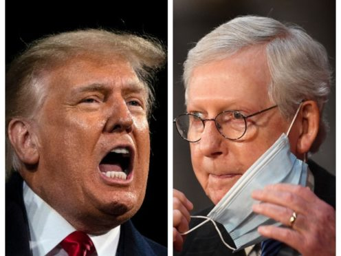 Donald Trump and Mitch McConnell (AP)
