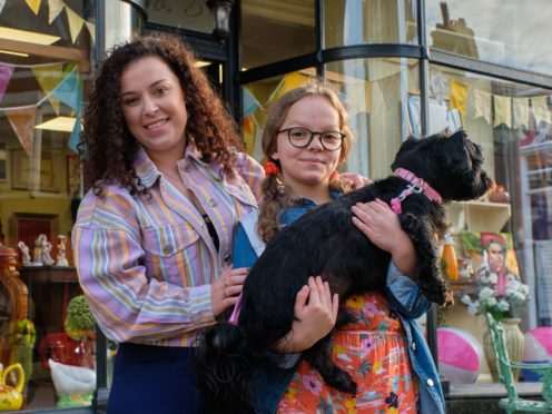 Tracy Beaker and Jess (Matt Squire/Brilliant Films/BBC/PA)