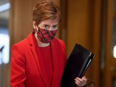 Nicola Sturgeon has said she will not lose focus as Scotland goes through the remaining phases of the Covid-19 pandemic (Jeff J Mitchell/PA)