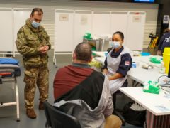 Royal Navy medics deliver Covid-19 vaccines in Bristol (Royal Navy/PA)