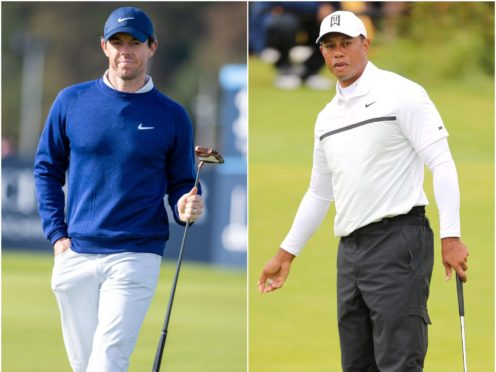Rory McIlroy and Tiger Woods (Kenny Smith/Richard Sellers/PA).