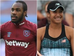 Michail Antonio and Heather Watson (Adam Davy/Mike Egerton/PA)