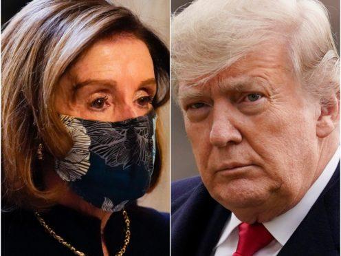 Nancy Pelosi and Donald Trump (Alex Brandon/Evan Vucci/AP)