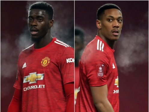 Axel Tuanzebe and Anthony Martial (PA)
