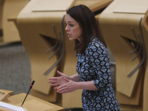Finance Secretary Kate Forbes said it was 'imperative' the Chancellor release further funding to help deal with Covid-19 (Fraser Bremner/Scottish Daily Mail/PA)